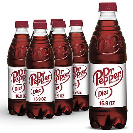 Diet Dr Pepper Soda Soda .5 L bottles 6 pack