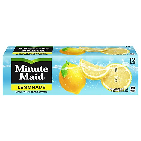 Minute Maid Juice Lemonade Fridge Pack Cans - 12-12 Fl. Oz.