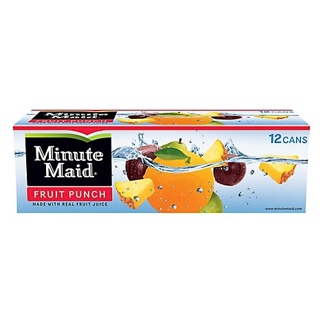 Minute Maid Juice Fruit Punch Fridge Pack Cans - 12-12 Fl. Oz.