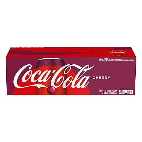 Coca-Cola Cherry Soda Soft Drink, 12 fl oz, 12 Pack
