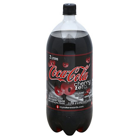 Coca-Cola Soda Pop Cherry Zero Sugar - 2 Liter