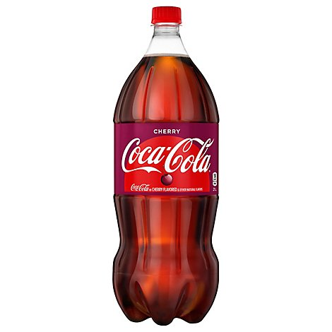 Coca-Cola Soda Pop Flavored Cherry - 2 Liter