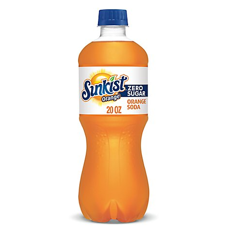 Sunkist Soda Zero Sugar Orange - 20 Fl. Oz.