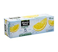 Minute Maid Juice Light Lemonade Fridge Pack Cans - 12-12 Fl. Oz.