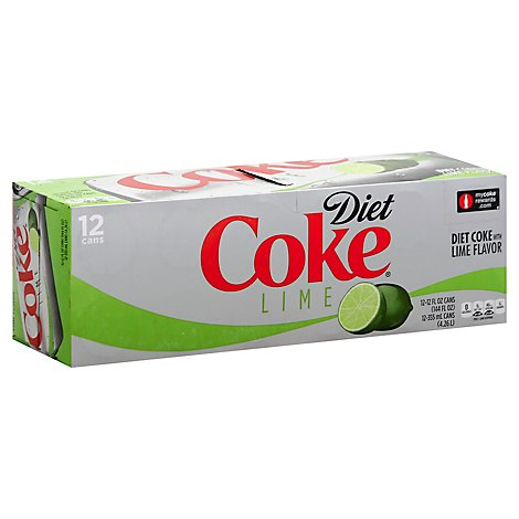 Diet Coke Soda Pop With Lime 12 Count - 12 Fl. Oz.