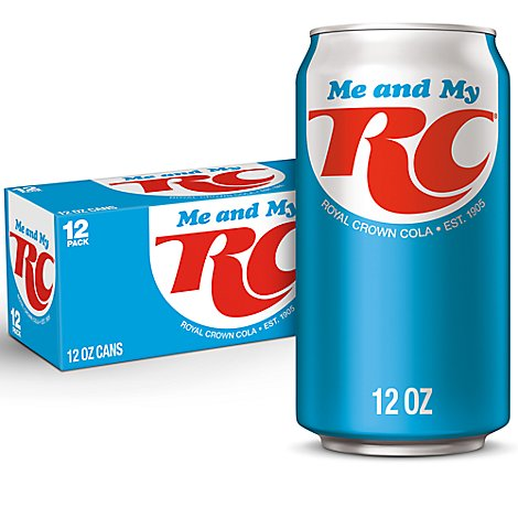RC Cola Soda In Can - 12-12 Fl. Oz.