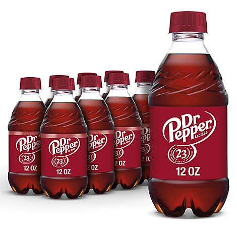 Dr Pepper Soda 12 fl oz bottles 8 pack