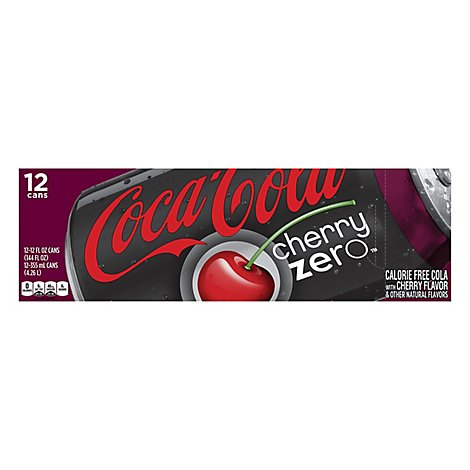 Coca-Cola Zero Cherry Diet Soda Soft Drink, 12 fl oz, 12 Pack