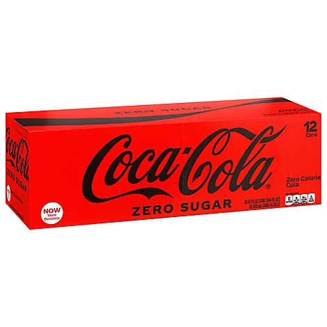 Coke Zero Sugar Diet Soda Soft Drink, 12 fl oz, 12 Pack