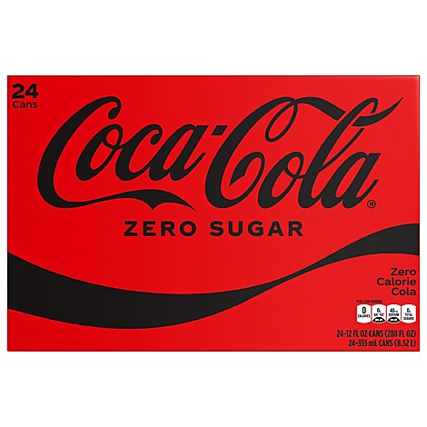 Coca-Cola Soda Pop Zero Sugar - 24-12 Fl. Oz.