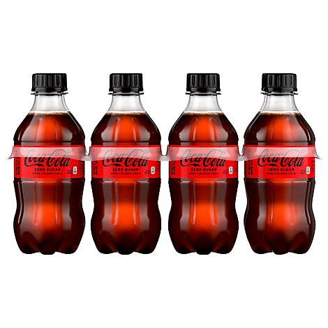 Coca-Cola Soda Pop Zero Sugar - 12-8 Fl. Oz.