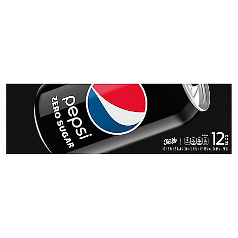 Pepsi Soda Cola Zero Sugar Cans - 12-12 Fl. Oz.