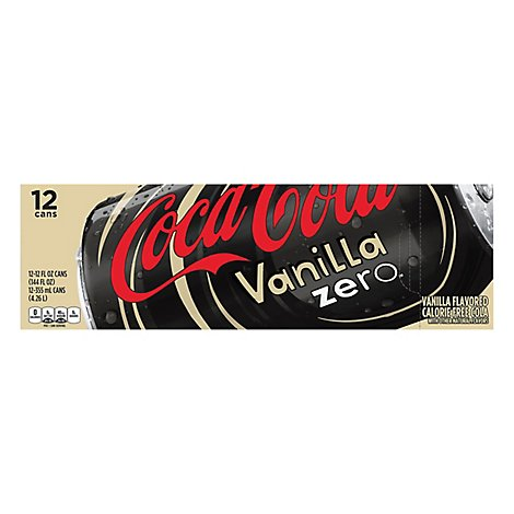 Coca-Cola Soda Pop Vanilla Zero Sugar - 12-12 Fl. Oz.