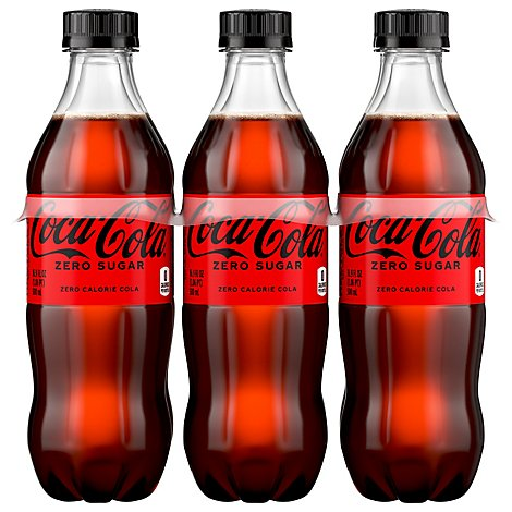 Coca-Cola Soda Pop Zero Sugar - 6-16.9 Fl. Oz.