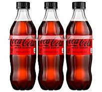 Coca-Cola Soda Zero Sugar Bottle - 6-16.9 Fl. Oz.