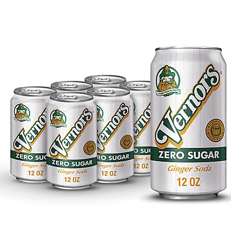 Vernors Soda Ginger Ale Diet - 6-12 Fl. Oz.