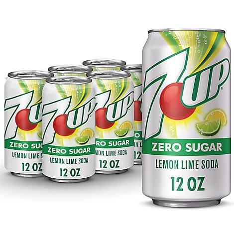 7UP Soda Lemon Lime Diet - 6-12 Fl. Oz.