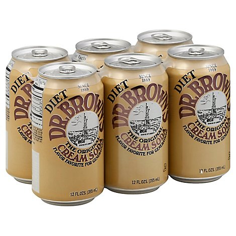 Dr Browns Diet Vanilla Cream Soda - 6-12 Fl. Oz.