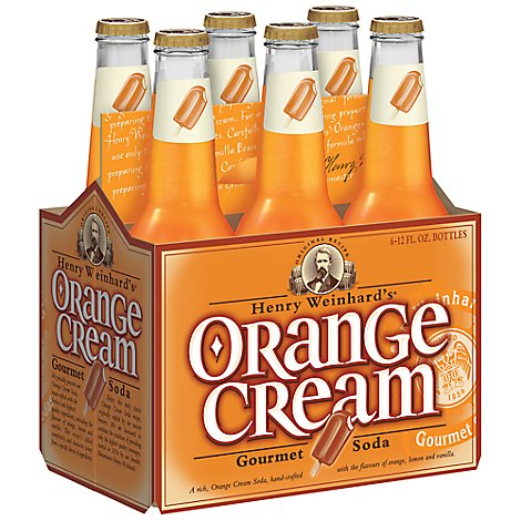 Henry Weinhards Soda Orange Cream - 6-12 Fl. Oz.