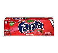 Fanta Soda Pop Strawberry Flavored In Can - 12-12 Fl. Oz.