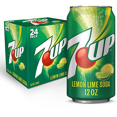 7UP Soda Lemon Lime - 24-12 Fl. Oz.