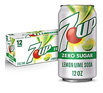 7UP Soda Zero Sugar Lemon Lime Pack In Cans - 12-12 Fl. Oz.