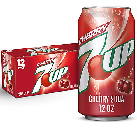 7UP Soda Cherry Flavored In Can - 12-12 Fl. Oz.