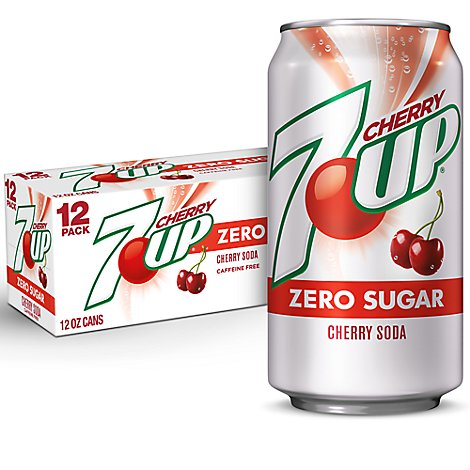 7UP Soda Diet Cherry - 12-12 Fl. Oz.