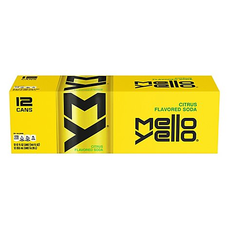 Mello Yello Soda The Original Smooth Citrus Flavor - 12-12 Fl. Oz.
