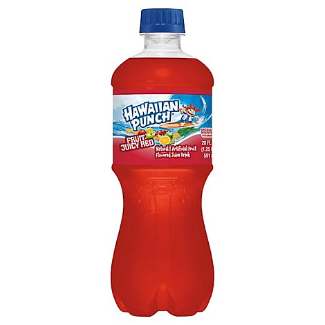 Hawaiian Punch Juice Drink Fruit Juicy Red - 20 Fl. Oz.
