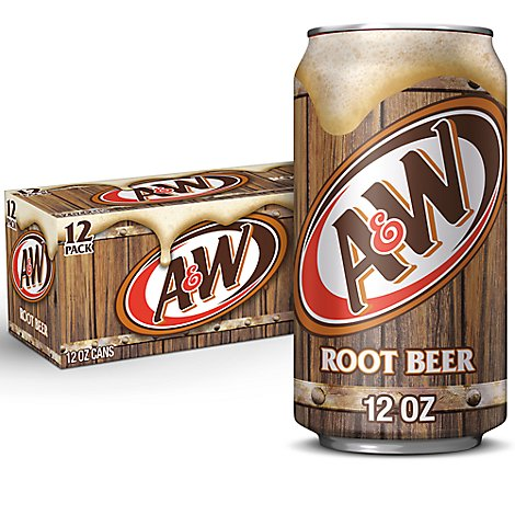 A&W Soda Root Beer - 12-12 Fl. Oz.