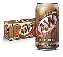 A&W Soda Root Beer In Can - 12-12 Fl. Oz.