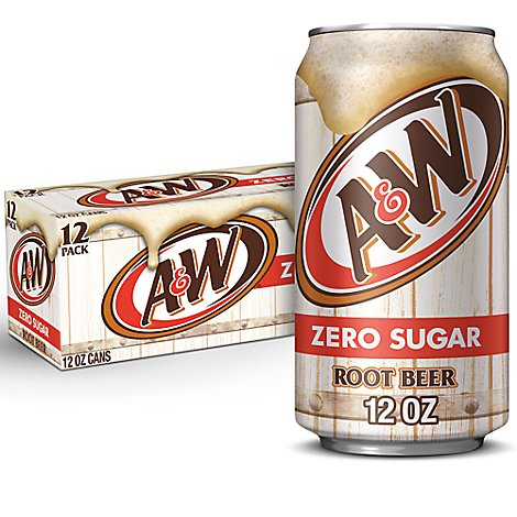 A&W Soda Diet Root Beer - 12-12 Fl. Oz.