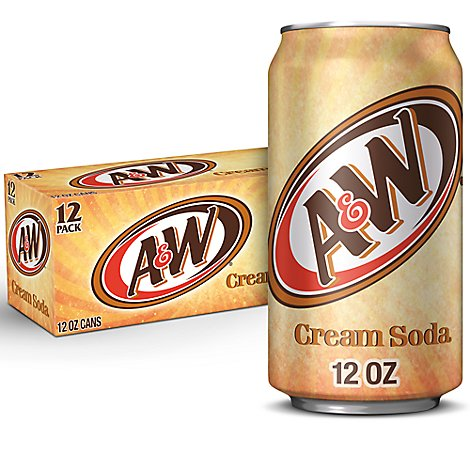 A&W Soda Cream - 12-12 Fl. Oz.