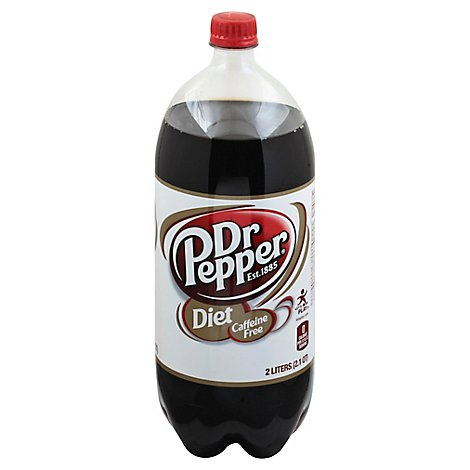 Caffeine Free Diet Dr Pepper Soda 2 L bottle