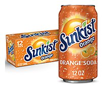 Sunkist Soda Orange - 12-12 Fl. Oz.