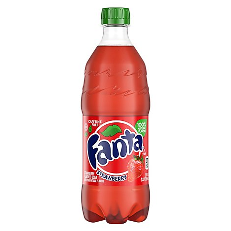 Fanta Soda Strawberry - 20 Fl. Oz.