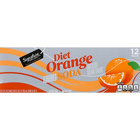 Signature SELECT Soda Diet Orange - 12-12 Fl. Oz.