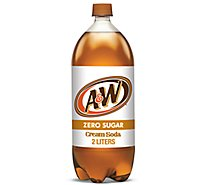 A&W Soda Zero Sugar Cream Soda - 2 Liter