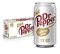 Caffeine Free Diet Dr Pepper Soda 12 fl oz cans 12 pack