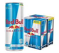 Red Bull Energy Drink Sugar Free - 4-8.4 Fl. Oz.