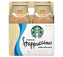 Starbucks frappuccino Coffee Drink Chilled Vanilla - 4-9.5 Fl. Oz.