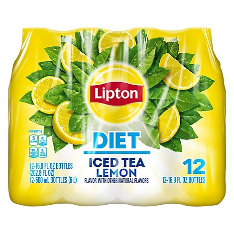 Lipton Iced Tea Lemon Diet - 12-16.9 Fl. Oz.