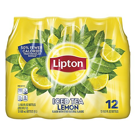 Lipton Iced Tea Lemon - 12-16.9 Fl. Oz.