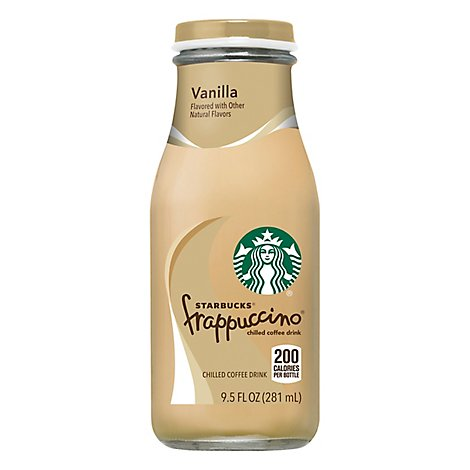 Starbucks frappuccino Coffee Drink Chilled Vanilla - 9.5 Fl. Oz.