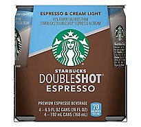 Starbucks Espresso Beverage Double Shot & Cream Light - 4-6.5 Fl. Oz.