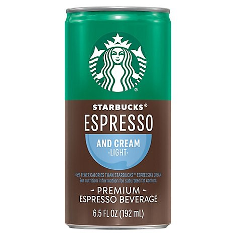 Starbucks Doubleshot Espresso Beverage Espresso & Cream Light - 6.5 Fl. Oz.