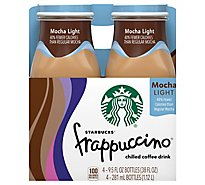 Starbucks frappuccino Coffee Drink Chilled Mocha Light - 4-9.5 Fl. Oz.