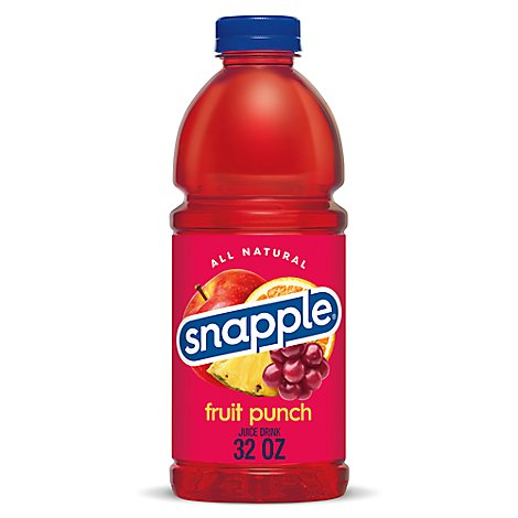Snapple Juice Drink Fruit Punch - 32 Fl. Oz.