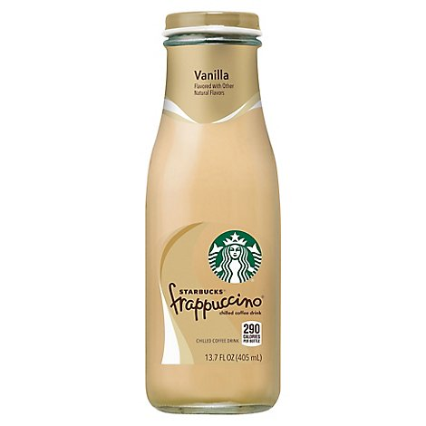 Starbucks frappuccino Coffee Drink Chilled Vanilla - 13.7 Fl. Oz.